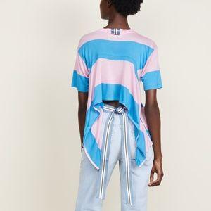 ▪️Diane Von Furstenberg▪️Tie-Back striped jersey